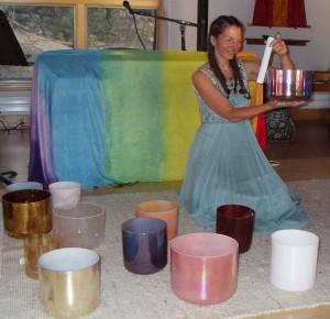 Leigh Ann and Healing Bowls
