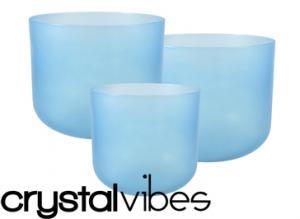 Aquamarine Crystal Bowls