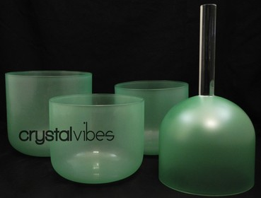 Emerald Singing Bowls