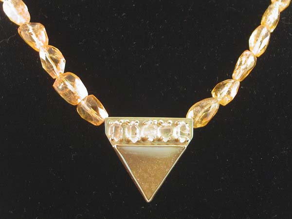 Herkimer and Drusy with 14 kt gold